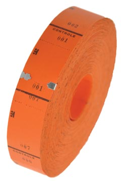 Rouleaux de tickets, 1000 tickets, orange