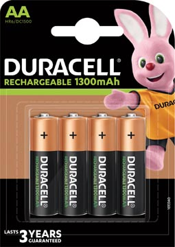 Duracell piles Recharge Plus, AA, blister 4 pièces