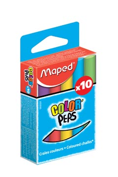Maped craie couleurs assorties