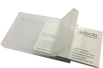 Deflecto porte-cartes de visite transparent