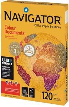 Navigator Colour Documents papier de présentation, ft A4, 120 g, paquet de 250 feuilles