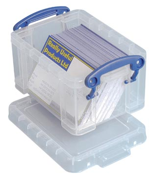 Really Useful Box porte-cartes de visite 0,3 l, transparent