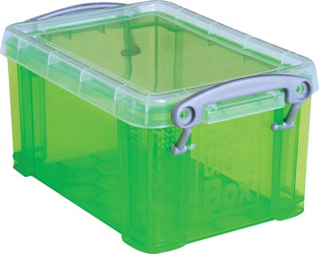 Really Useful Box porte-cartes de visite 0,3 litres, vert transparent