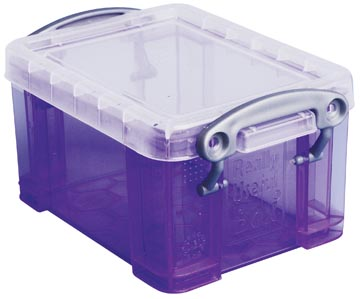 Really Useful Box porte-cartes de visite 0,3 litres, pourpre transparent