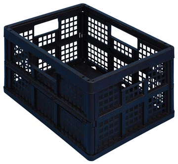Really Useful Box bac pliante 45 litre, noir
