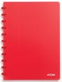 Atoma cahier Trendy ft A4, quadrillé 5 mm, rouge transparent
