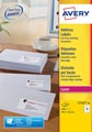 Avery L7162, Etiquettes adresses, Laser, Ultragrip, blanches, 40 pages, 16 per page, 99,1 x 33,9 mm